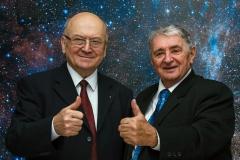 Vladimír Remek (vlevo) s Oldřichem Pelčákem