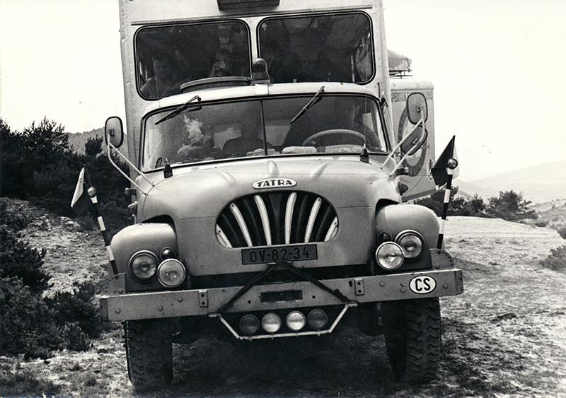Expediční Tatra se kterou se v roce 1973 jelo na výpravu k Dudh Kosi