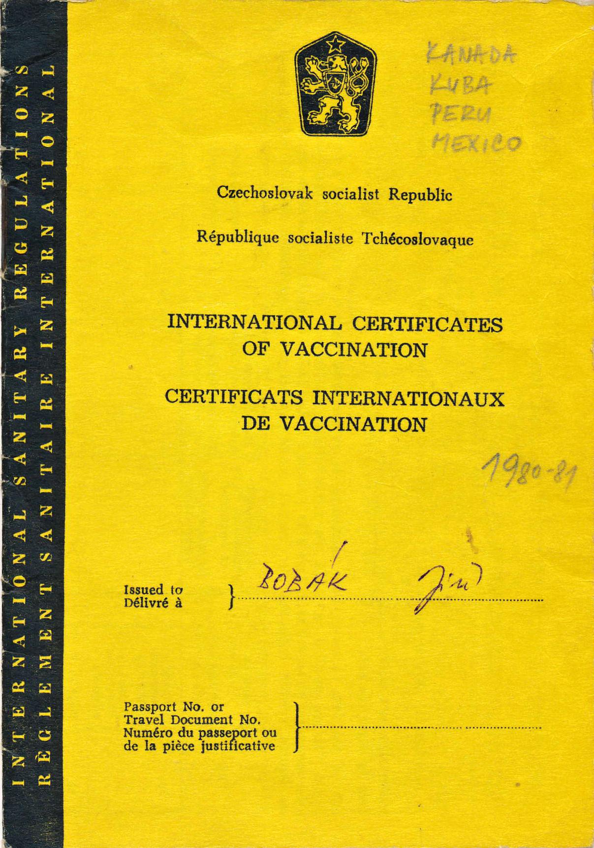 Mezinárodní řidičský průkaz Jiřího Bobáka