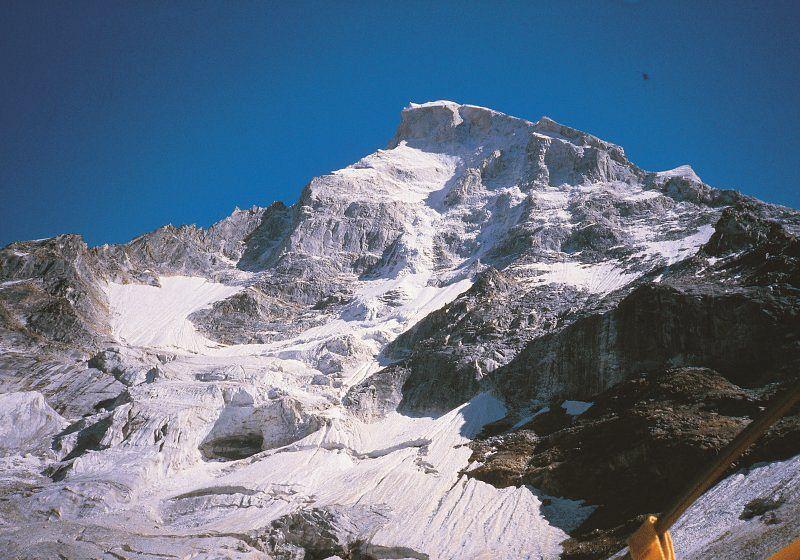 Pohled na Severozápadní stěnu Shivlingu