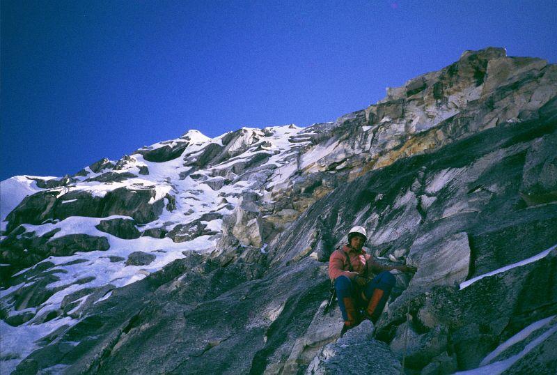 Pavel Rajf a lezení nad prvním bivakem