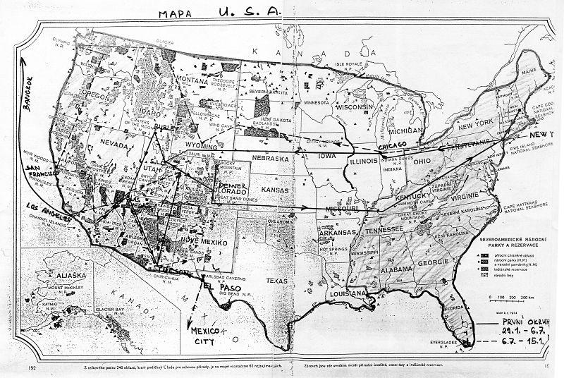 Mapa U.S.A.