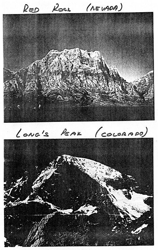 Red Rock (Nevada), Long's Peak (Colorado)