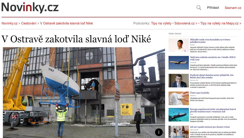 Odkaz na reportáž na Novinky.cz