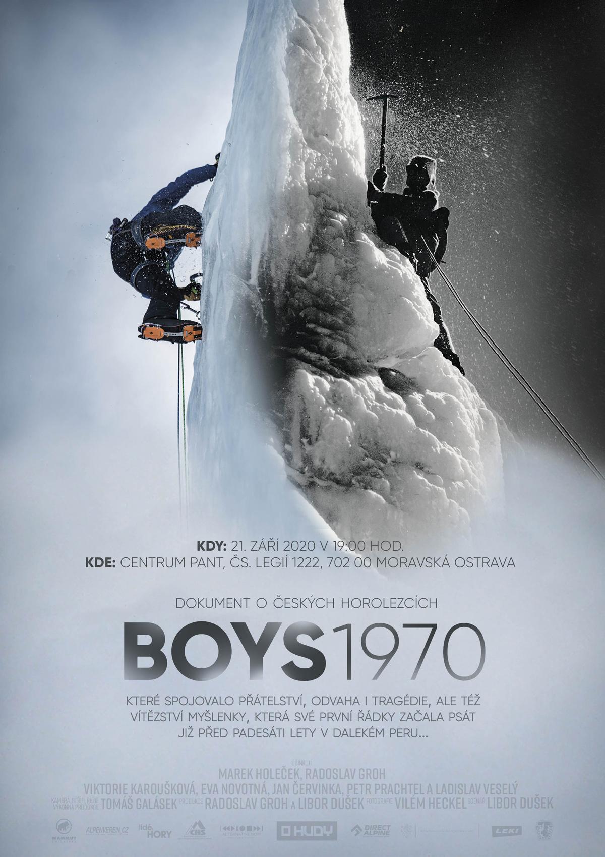 Oficiální plakát premiéry filmu BOYS 1970